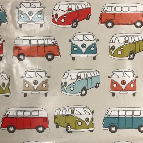 Oilcloth VW Camper Vans