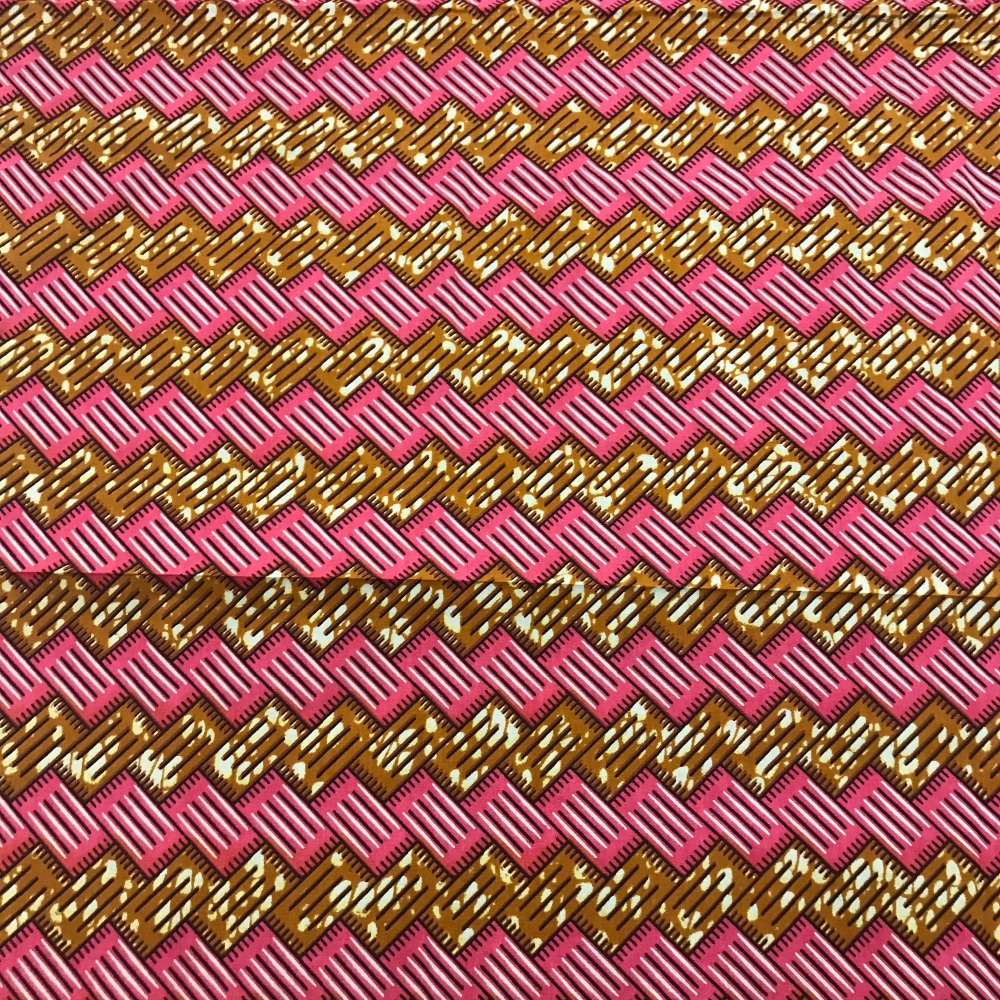Wax Cotton - Pink weave