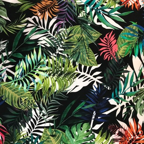 Jungle Tropics -  Cotton Drill stretch