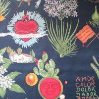 Viva Frida Black  - Frida Kahlo Alexander Henry Fabric