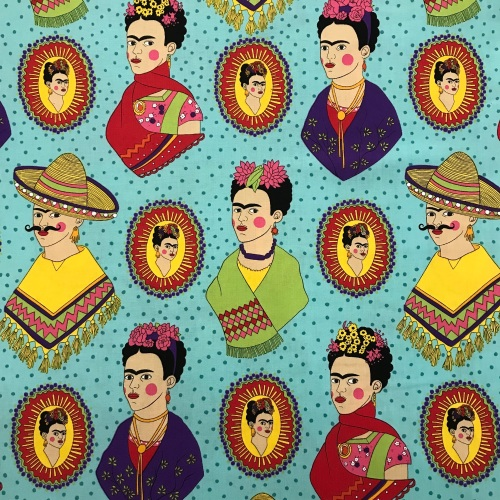 Fantastic Frida by Alexander Henry Fabric / on turquiose