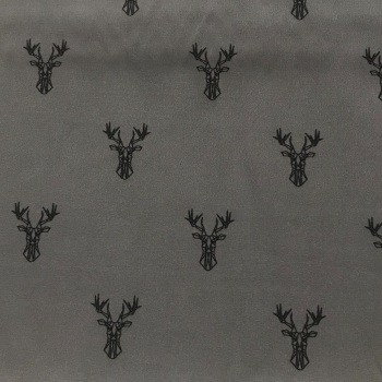 Katia Fabric -  Grey Stags