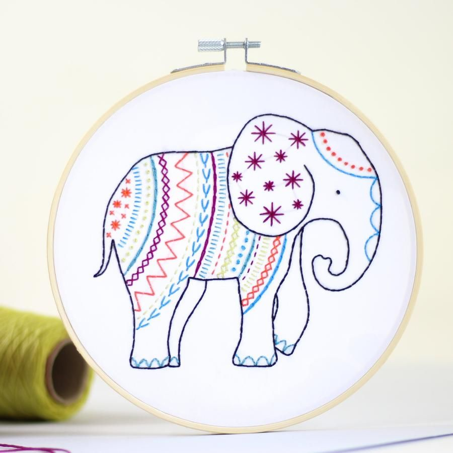Hawthorn Embroidery Kit - Elephant