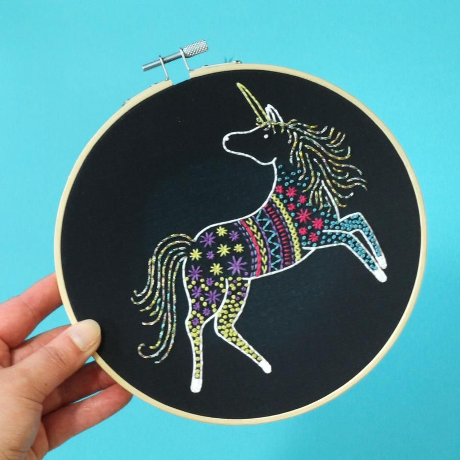 Hawthorn Embroidery Kits - Unicorn
