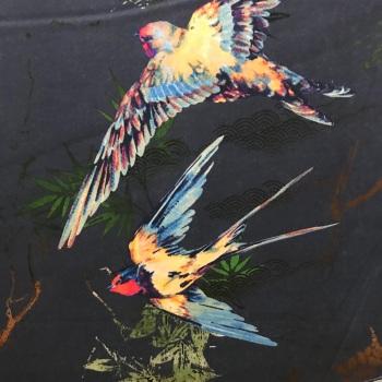 Mediterranean Swallows-Cotton Satteen by McElroy