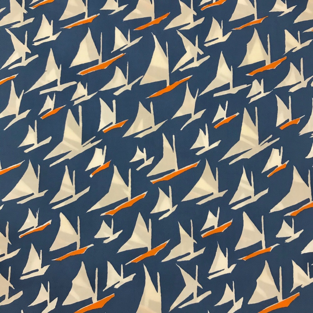 Cotton Lawn Fabric - Givinci Sailing Boats