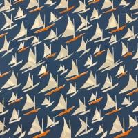 Cotton Lawn Fabric - Givinci Sailing Boats