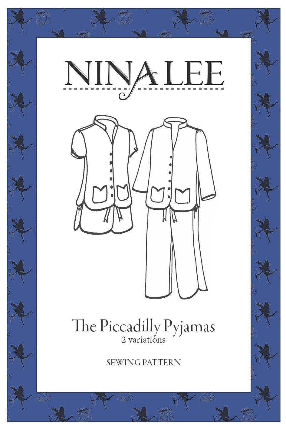 The Piccadilly  Pyjamas Sewing Pattern