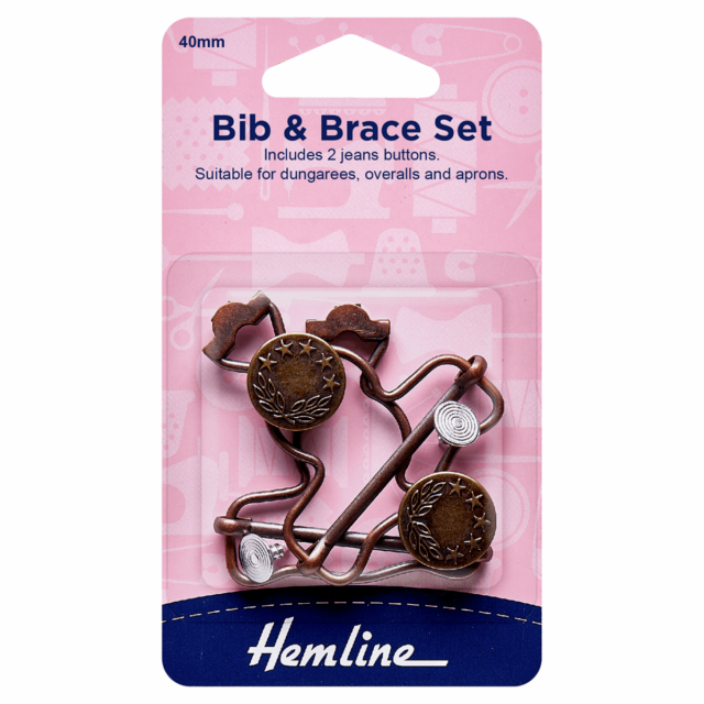 Hemline Bib and Brace Set - Bronze