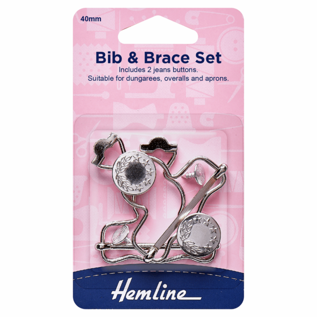 Hemline Bib and Brace Set - Silver