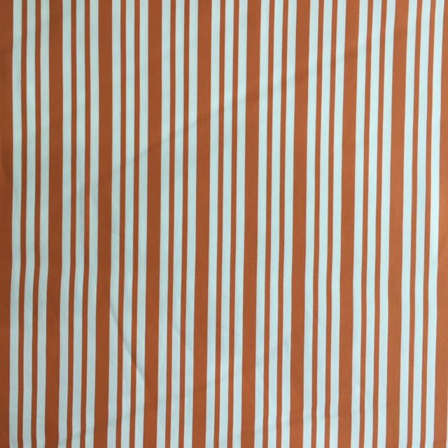 Cotton - Orange Stripe