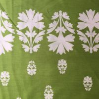 Cotton - Green border print