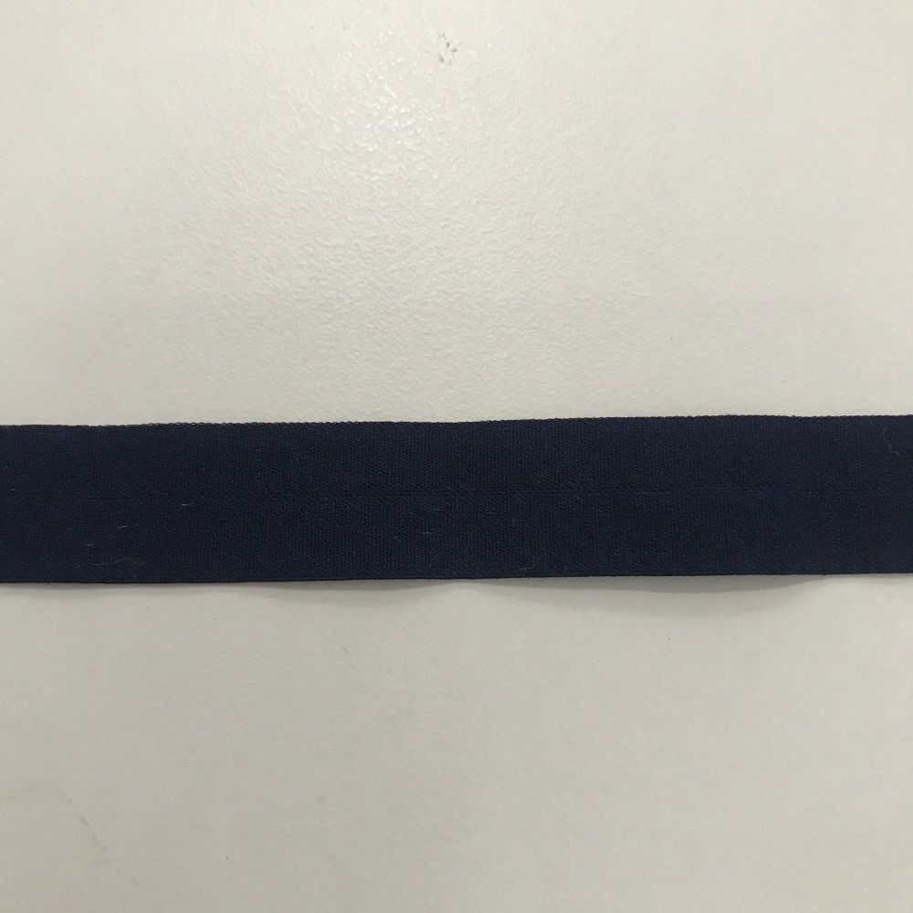 Fold over elastic - navy
