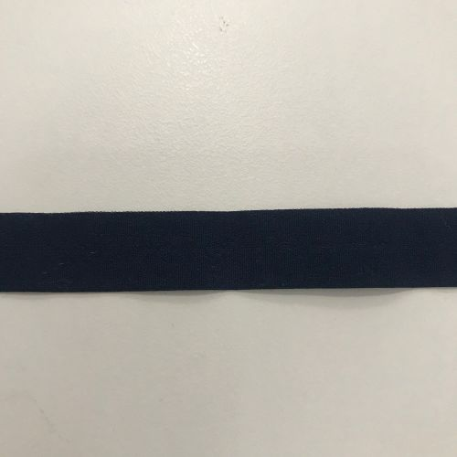 Fold over elastic - navy