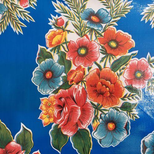 Oilcloth - Ramillettes Blue