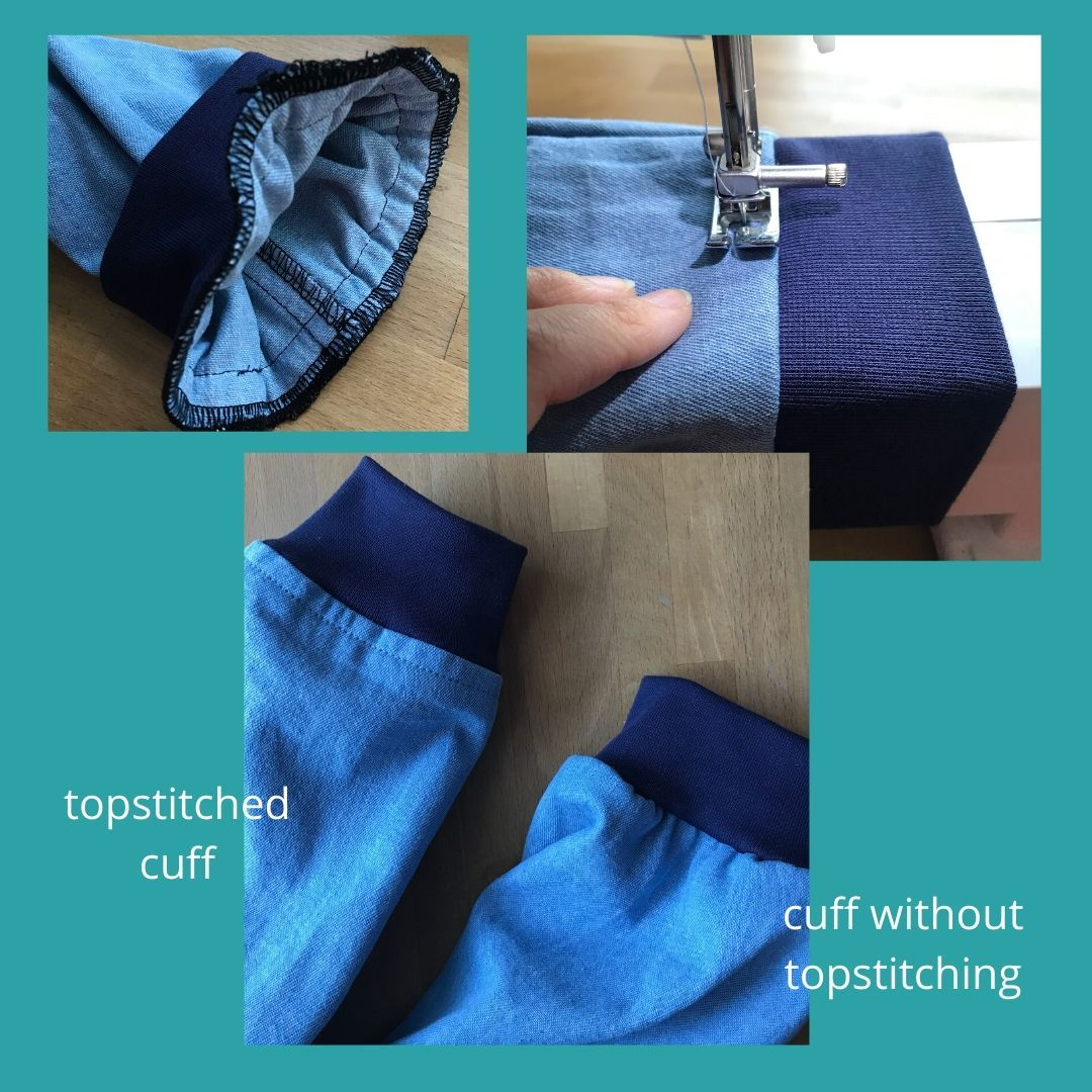 topstitched