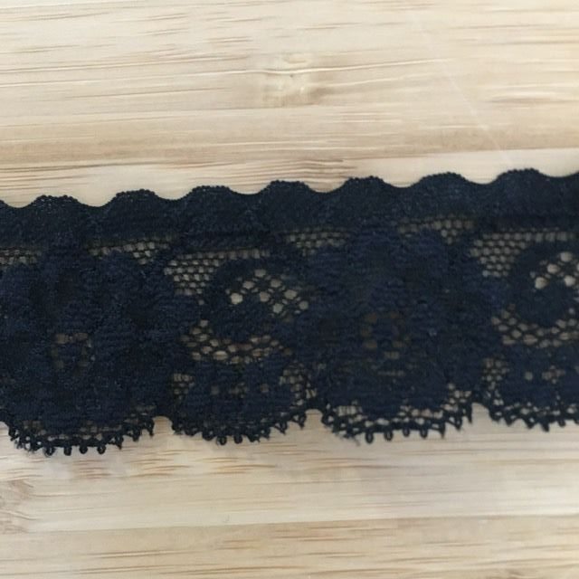 Stretch Lace - Black