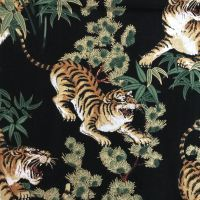 Tigers with Gold -  100%Cotton