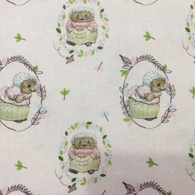 Beatrix Potter Fabric -  Mrs Tiggywinkle - Craft Cotton Company