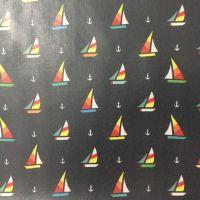 Vinyl Cotton - Sailboat