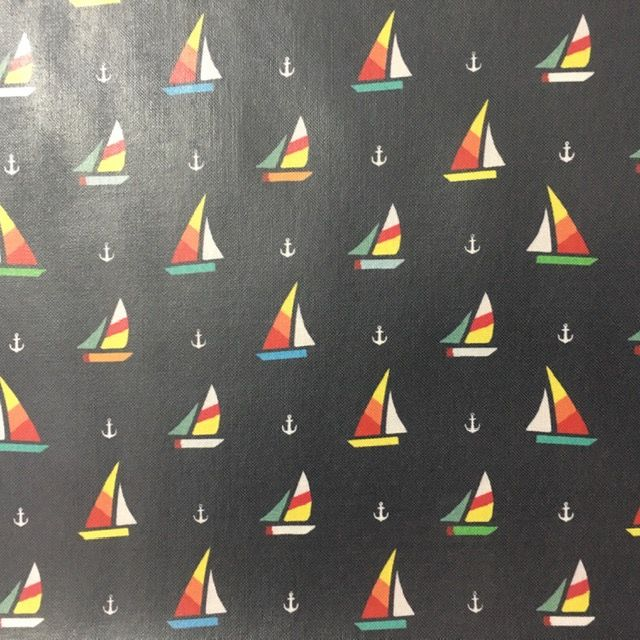 Vinyl Cotton - Sailboat