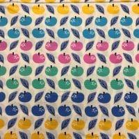 Rainbow Apples - Cotton Fabric by Dashwood