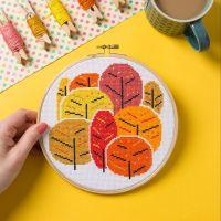 Hawthorn Cross Stitch  Kit - Autumn Trees