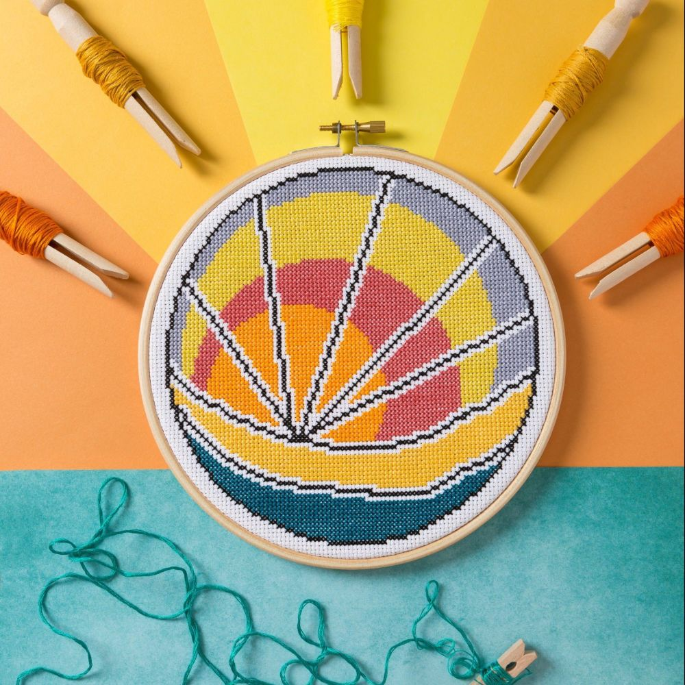Hawthorn Cross Stitch  Kit - Sunset Beach