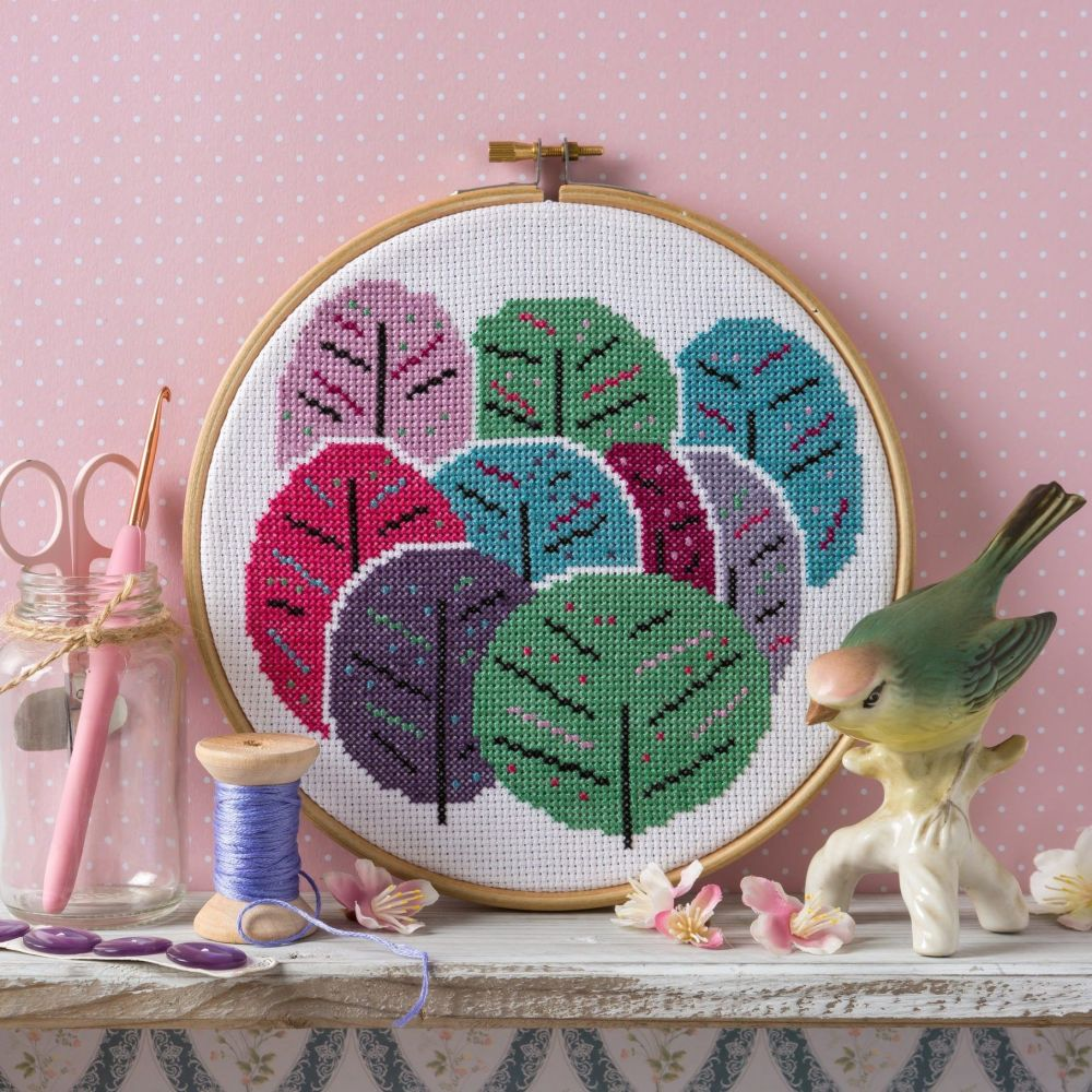 Hawthorn Cross Stitch  Kit - Spring Trees