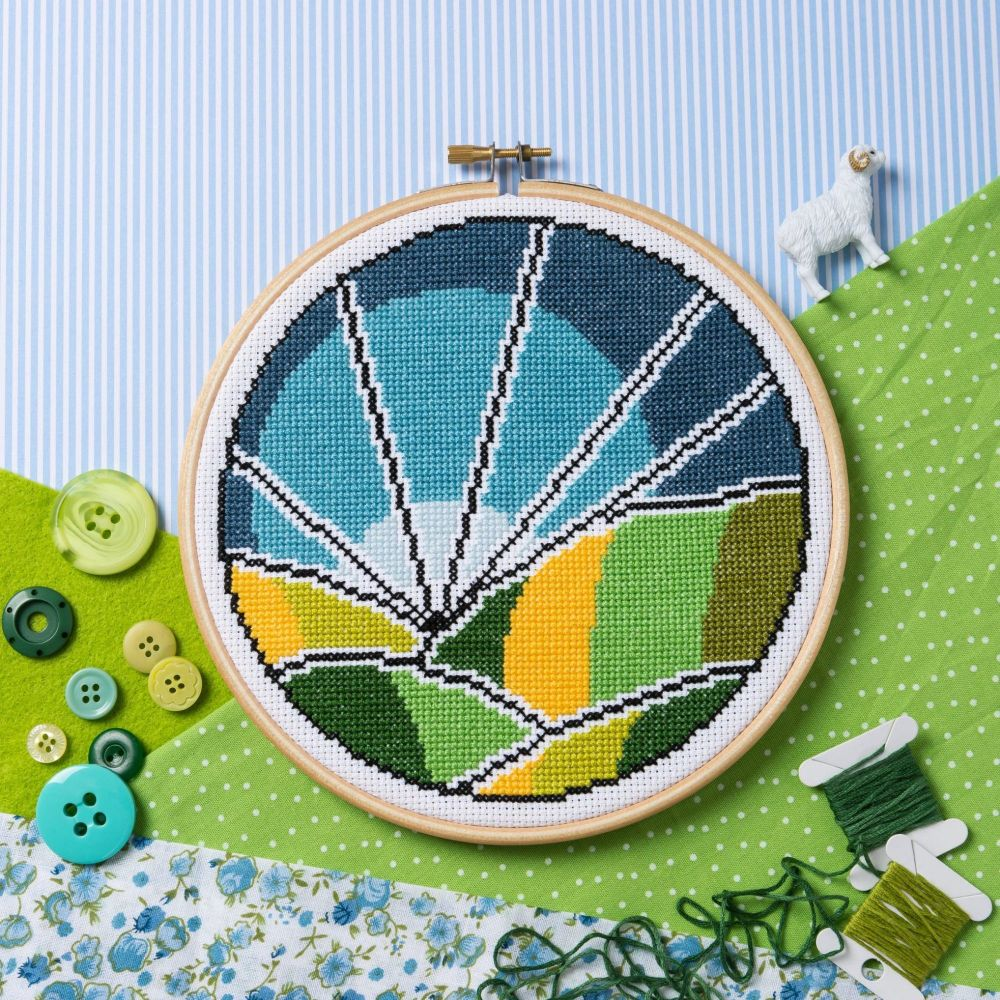 Hawthorn Cross Stitch  Kit - Rolling Fields