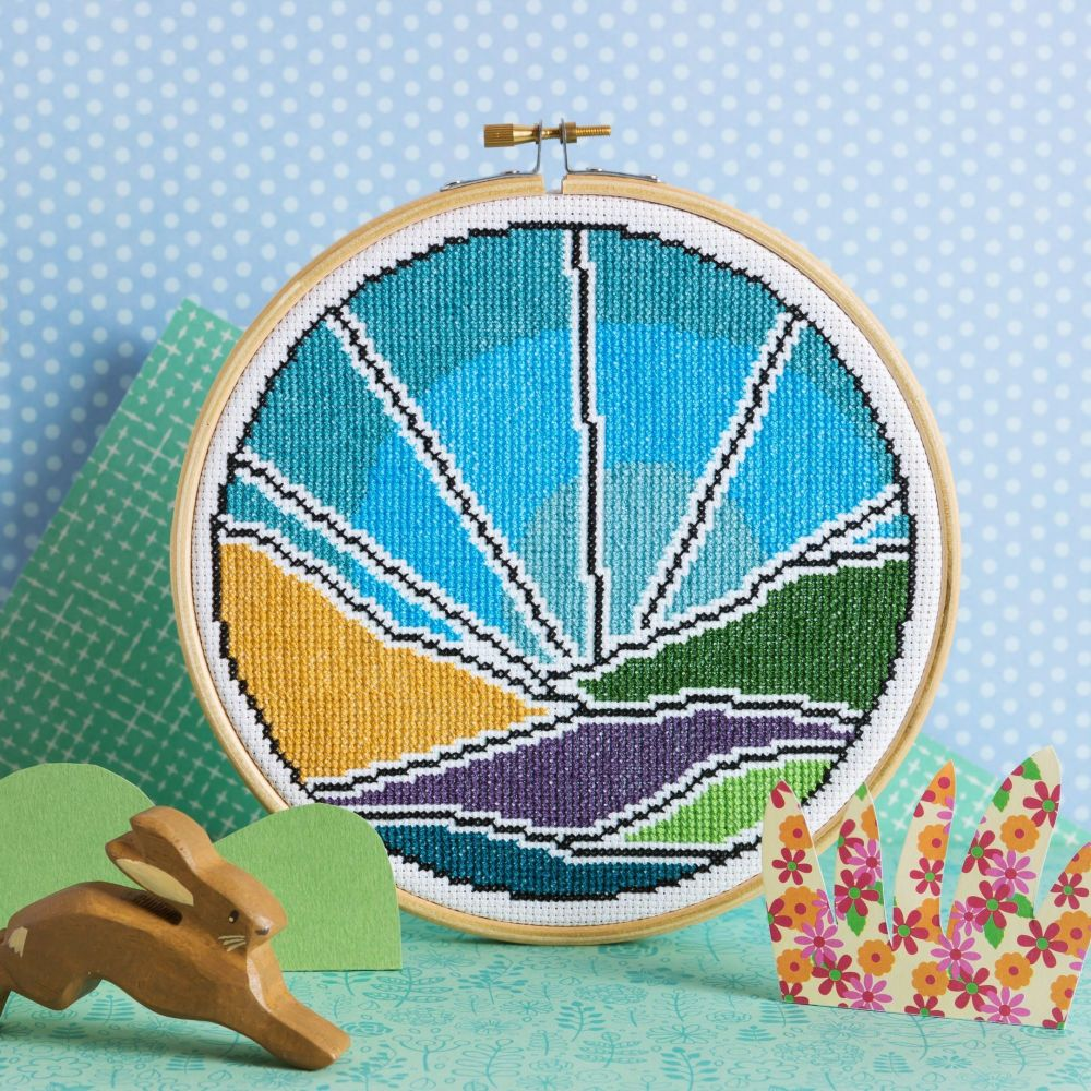 Hawthorn Cross Stitch  Kit - Blue Skies