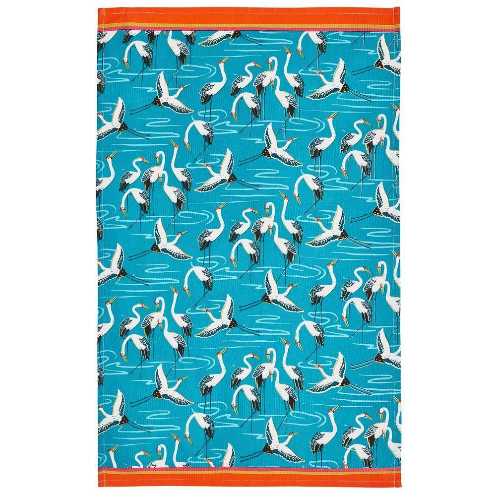 Cotton Tea Towel - Cranes