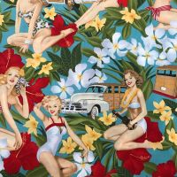 Aloha Girls - Alexander Henry Fabric