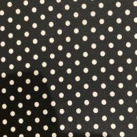 Black Polka Dot Fabric - Polyester