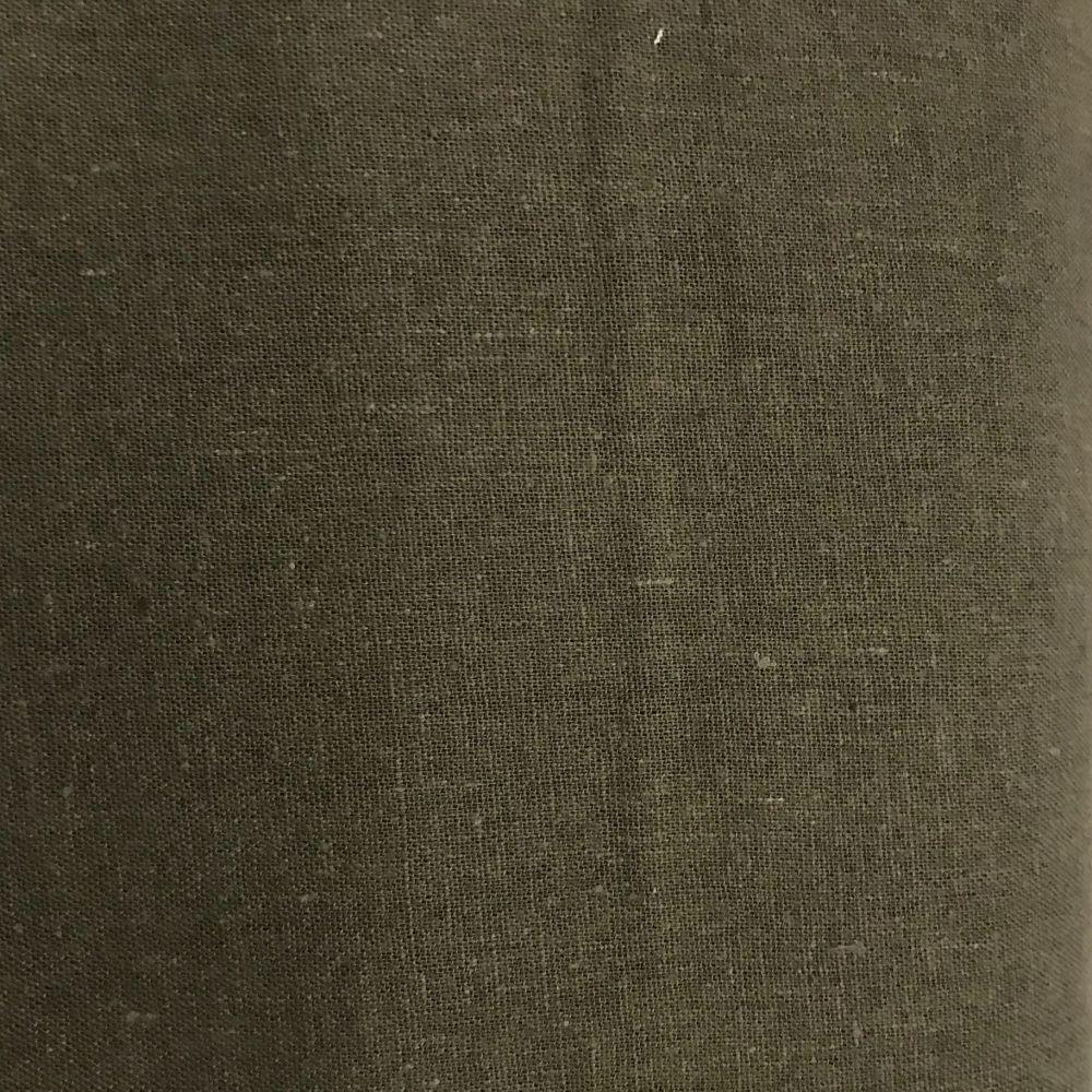 Khaki Moss Green Linen /Viscose