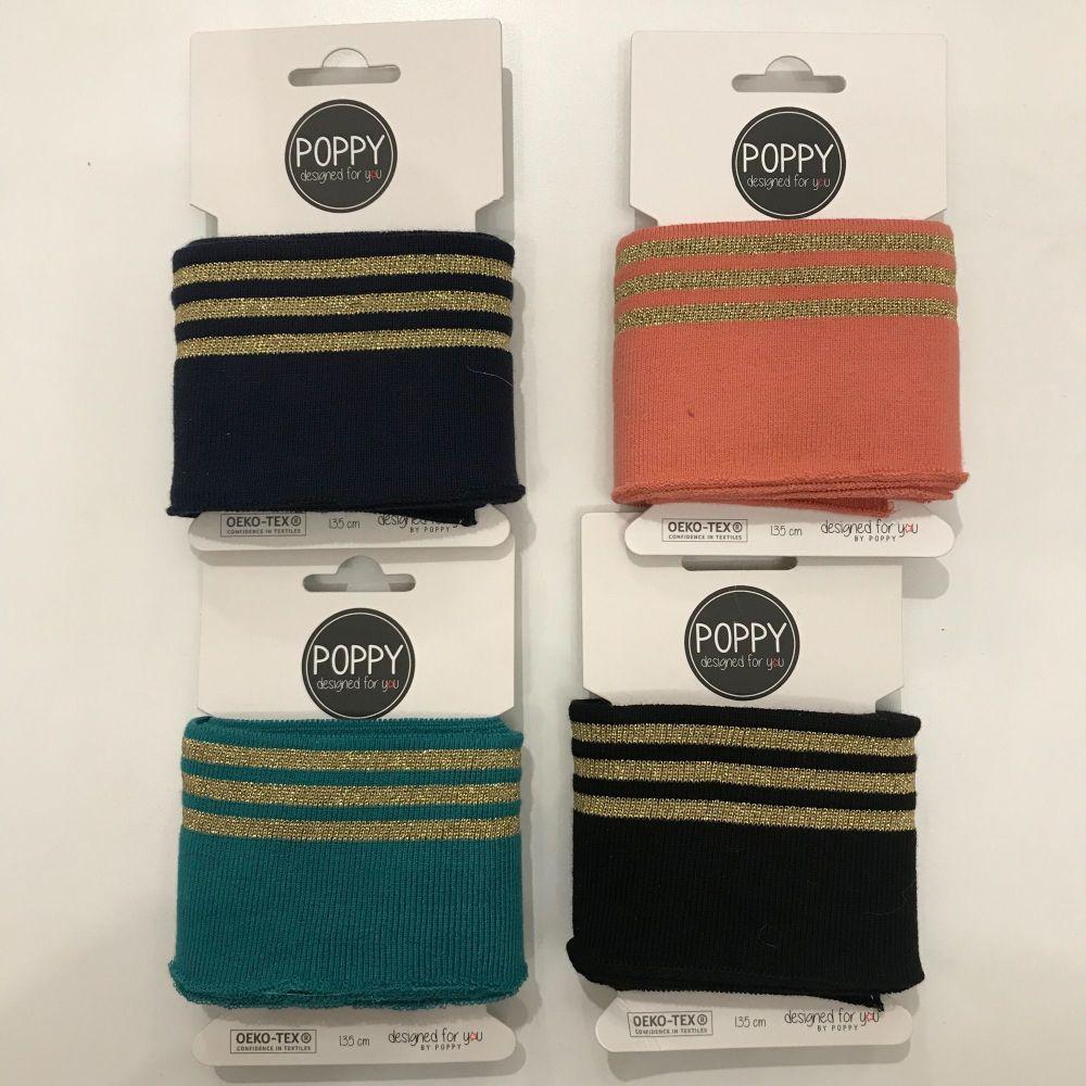 Jersey Cuffing - Metallic Stripe