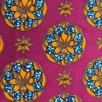 Wax Cotton - Pink & Orange