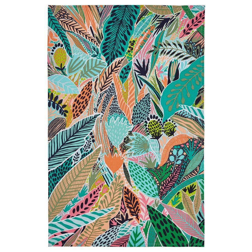 Cotton Tea Towel - Tropical Leaf