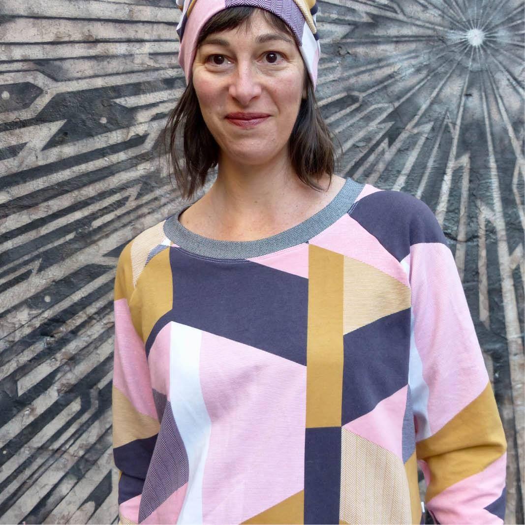 Boxy Raglan Sweatshirt Sewing Pattern