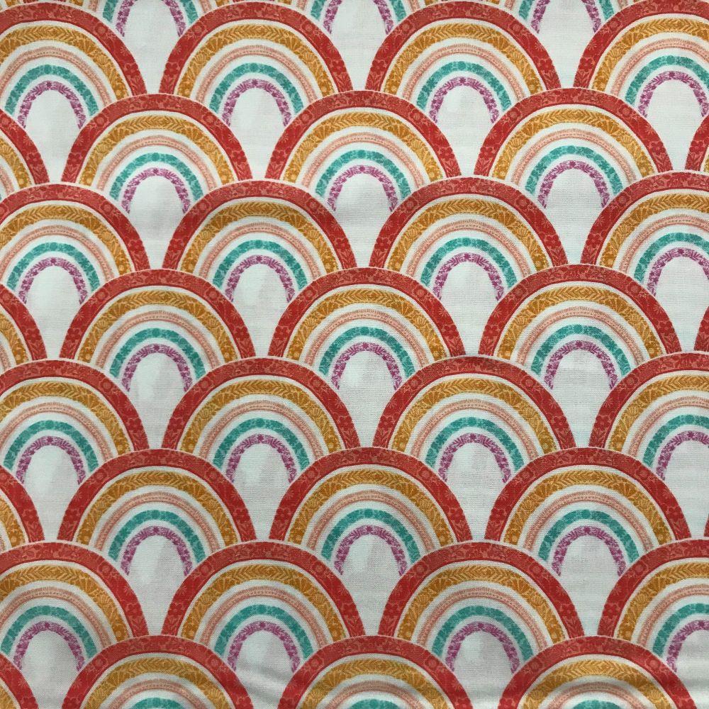 Good Vibes - Rainbows - Cotton Fabric by Dashwood