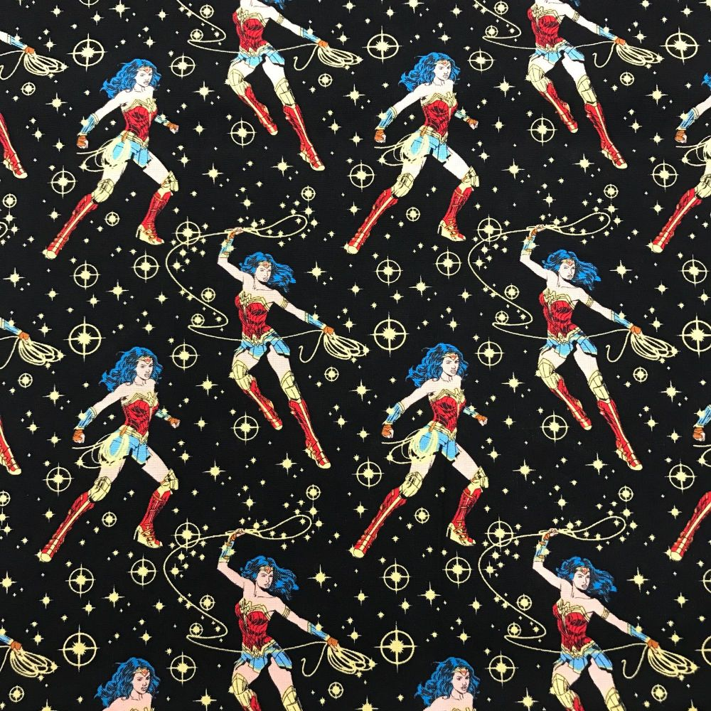 Wonder Woman Poses on Black  by Craft Cotton Company