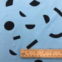 Tilly and the Buttons- Geo Blue- Organic Jersey