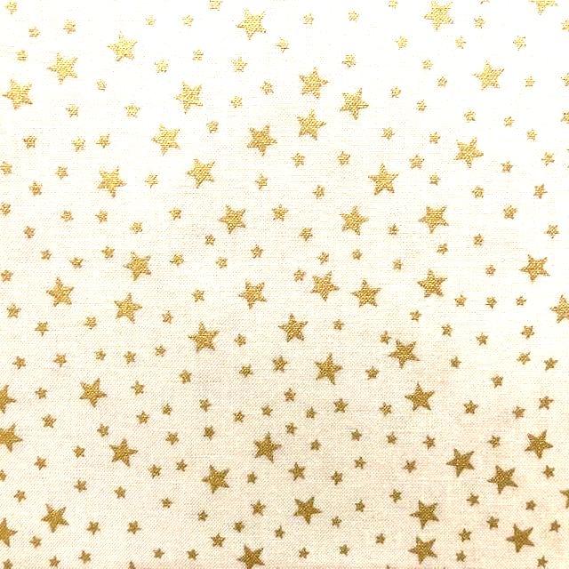 Christmas Fabric - Gold Star