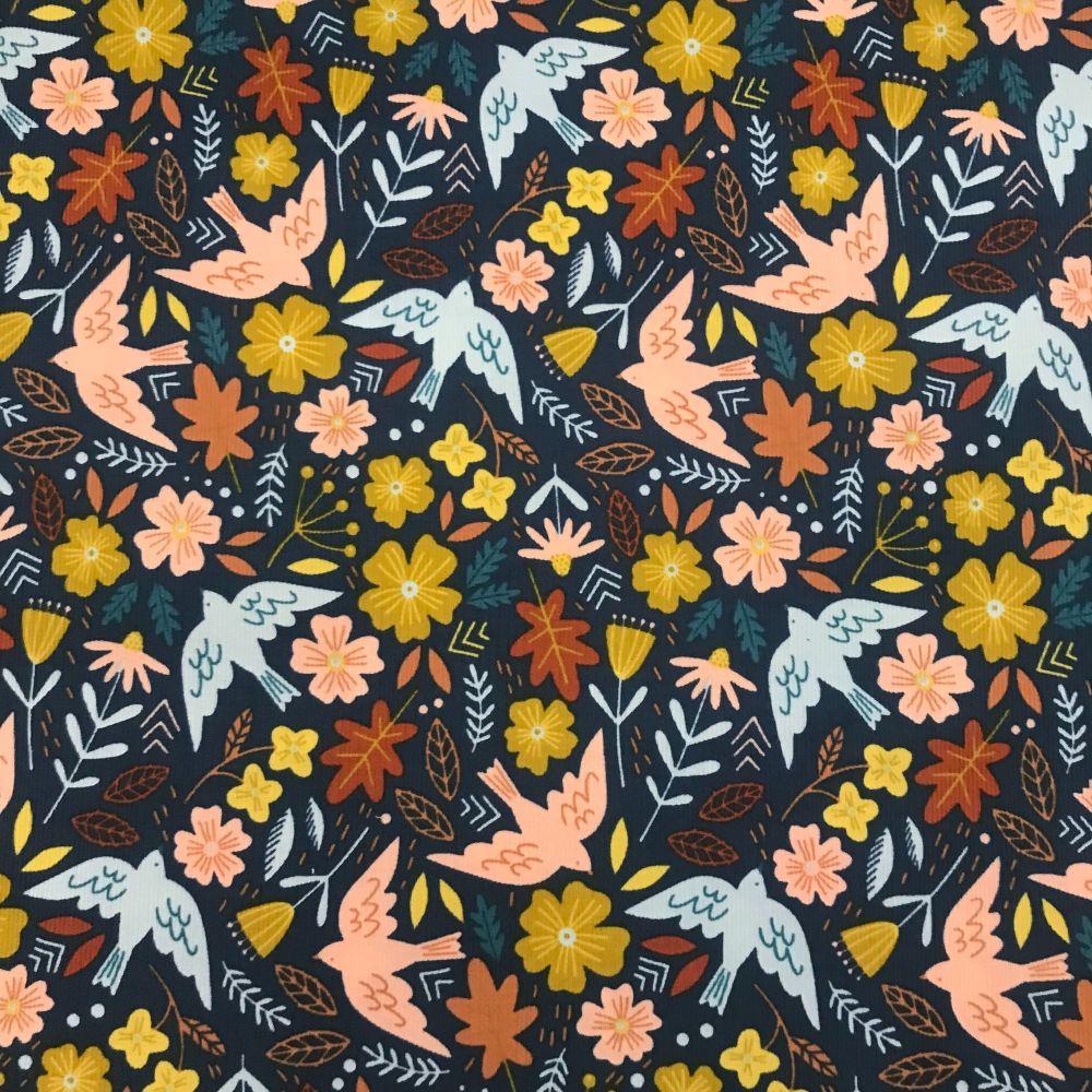 Babycord-Autumn Birds-Flo-Jo