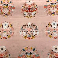 Nordiska - Pink- Cotton Fabric by Dashwood