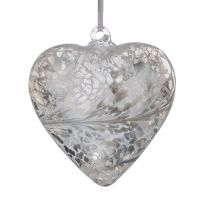 Friendship Heart 12cm silver