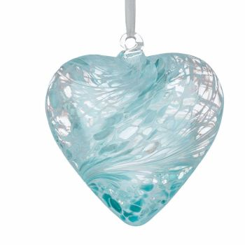 Friendship Heart 8cm pastel blue