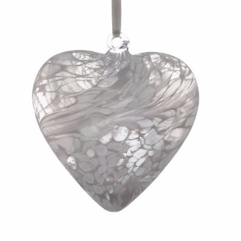 Friendship Heart 8cm white