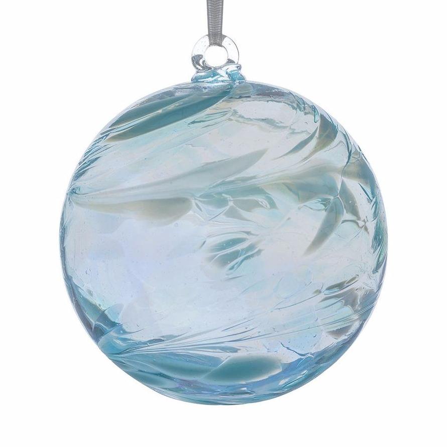 Birthstone Ball 10cm March aquamarine