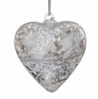 Friendship Heart 8cm silver